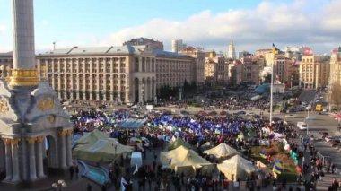 Protest meeting against Tax Codex Maidan Nezalezhnosti Kiev, Ukraine November — Stock Video