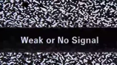 Weak or no signal — Stock Video