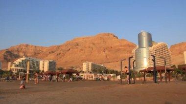 Mud cure resort in Israel — Stock Video