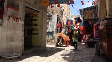 Orientalny bazar w tunezji — Wideo stockowe
