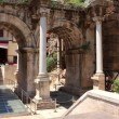 Stock Video: Ancient gate of Romemperor Adriat Antalycity center Turkey