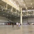 Stock Video: Spacious exhibition hall