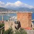 Kizil Kule - Red Tower Alanya, Turkey — Stock Video #16628557