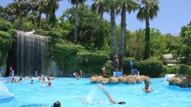 Aquapark in Antalya, Turkey — Stock Video