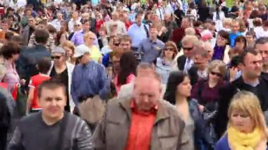 Crowd of people — Vídeo de stock