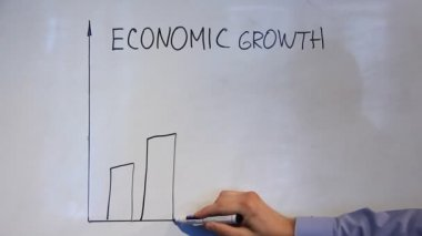 Diagram of economic growth — Stock Video