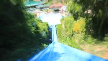 Big aquapark in Antalya, Turkey — Stock Video