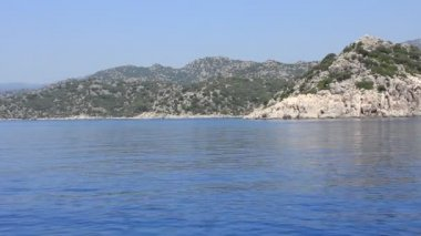 Voyage. Turkey Kemer Kekova-Simena Region Western Taurus — Video Stock