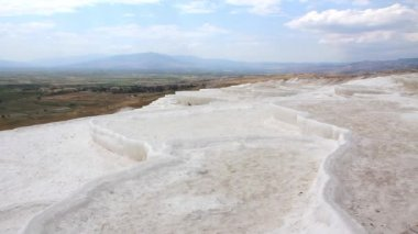 Pamukkale - cotton castle Denizli Province in southwestern Turkey — Stock Video