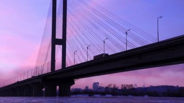 The Moskovskyi Bridge in Kiev, Ukraine — Stock Video