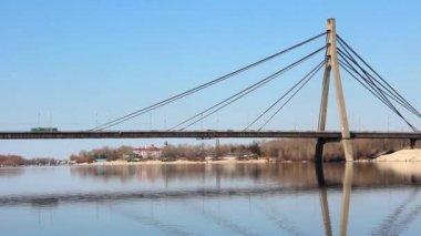 The Moskovskyi Bridge in Kiev, Ukraine — Stock Video