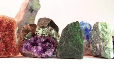 Close up of semi-precious stones — Vídeo Stock