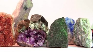 Close up of semi-precious stones — Stock Video