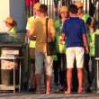 Stewards at the entrance on Olympiyskiy stadium before final match of EURO 2012 — Stock Video