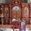 Interior of small orthodox church — Stockvideo