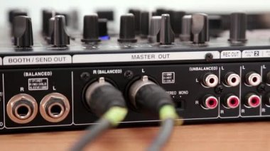 DJ console sockets — Stock Video