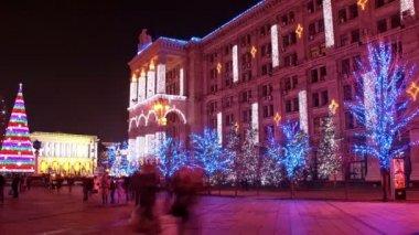 New Years Day in Kiev, Ukraine — Stock Video