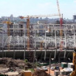 Reconstruction of republican football stadium for EURO 2012 in Kiev, Ukraine — Stock Video #20288115