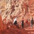 Stock Video: Pilgrims. Moses Mountain. Sinai Peninsula. Egypt