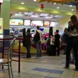 Inside fast food restaurant — Stock Video