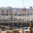Reconstruction of republican football stadium for EURO 2012 in Kiev, Ukraine — Stock Video #20290707