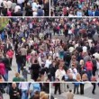 Stock Video: Crowd of people montage