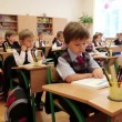 Schoolchilds in classroom — Stock Video