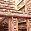Stock Video: Log house
