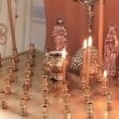 Stock Video: Candles in orthodox church
