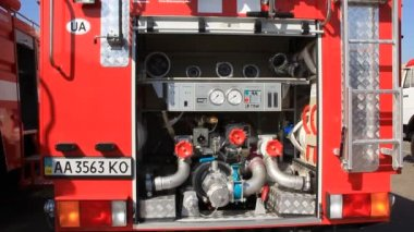 Fire-engine — Stock Video