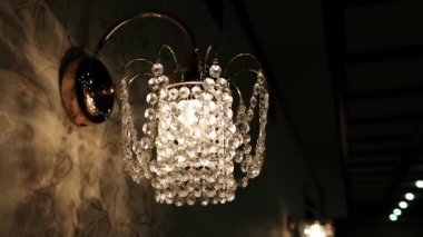 Crystal sconce — Stock Video