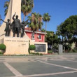 Stock Video: AlanyAtaturk monument