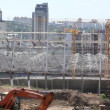Reconstruction of republican football stadium for EURO 2012 in Kiev, Ukraine — Stock Video