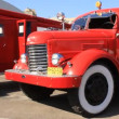 Stock Video: Red old firetruck