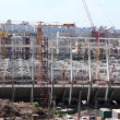 Reconstruction of republican football stadium for EURO 2012 in Kiev, Ukraine — Stock Video #21493417