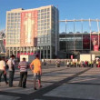 Olympiyskiy stadium before final match of European Football Championship — Stock Video