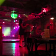 Stock Video: Young couple dancing in restaurant