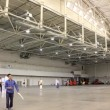 Spacious exhibition hall — Stok Video #21496081