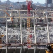 图库视频影像: Reconstruction of republicfootball stadium for EURO 2012 in Kiev, Ukraine