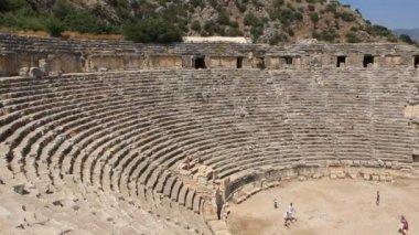 Antico anfiteatro greco-romano. vecchio nome di myra - demre turchia — Video Stock