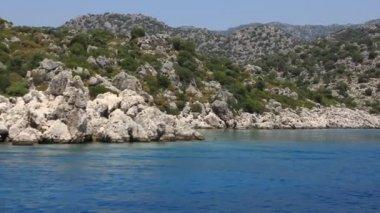 航海。トルコ、ケコバ キプロス地域、アポロニア西部おうし座 — ストックビデオ