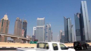 Dubai downtown. United arab emirates — Stock Video