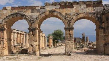 Hierapolis ancient city. Turkey — Stock Video