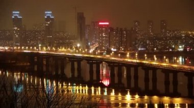 Paton Bridge in Kiev, Ukraine — Stock Video