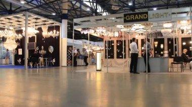 Illuminating equipment exhibition — Stock Video
