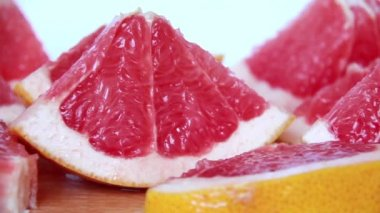 Grapefruit slices — Stock Video
