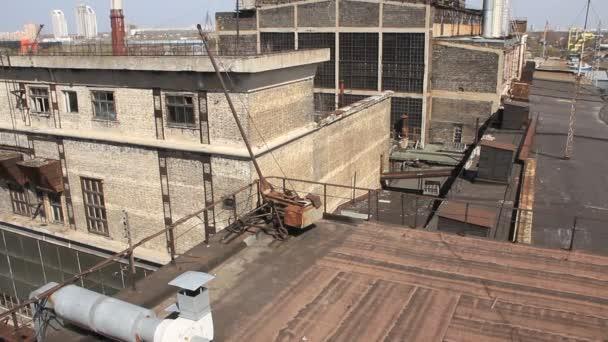 Estación de calor electropower. transformadores. tablero al aire libre — Vídeo de stock