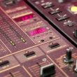 Stock Video: Mixing console
