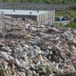 Stock Video: Bulldozer on landfill