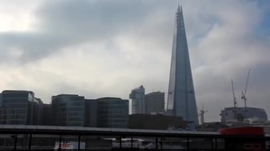 The Shard Tower or London Bridge Tower, England — Stock Video